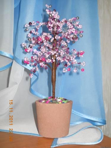 Из бисера цветы и деревья своими руками
